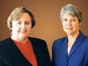 photo of Betsy Ohlsson-Wilhelm Ph.D. and Katharine Muirhead, Ph.D., Biopharmaceutical Consortium Members